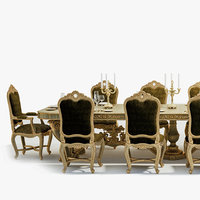 Baroque style dining room
