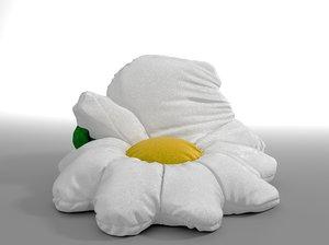 chamomile bag bean 3D