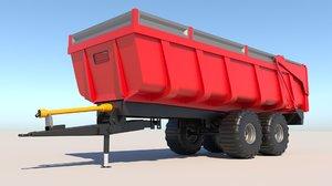 tipper trailer vehicle transport model