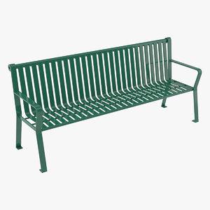 bench scene 3D model