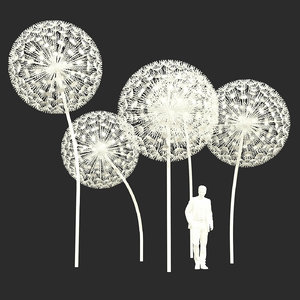dandelion street decoration 3D model