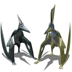 3D pteranodon 2 dinosaur animations