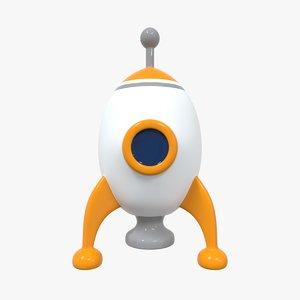 3D rocket icon model