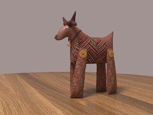 3D deer toy model