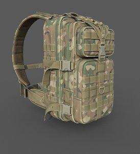 realistic military backpack model