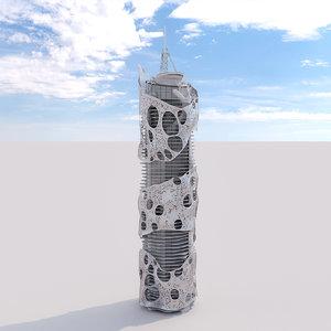 futuristic building 20 model