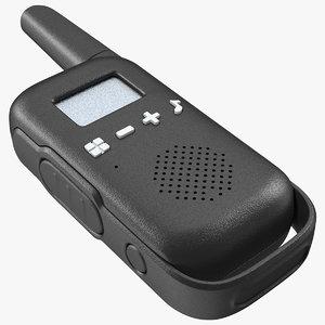 black walkie talkie portable model