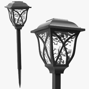 3D solar outdoor pathway lantern model