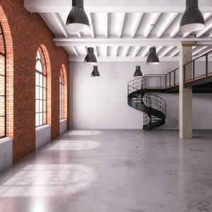 office loft industrial space 3D model