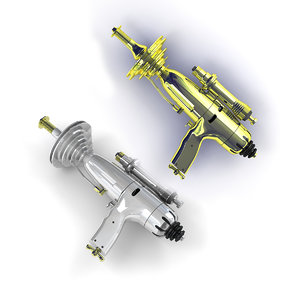 3D model retro raygun