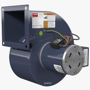 3D dayton pressure blower