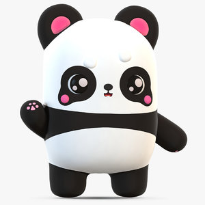 3D cute cartoon panda
