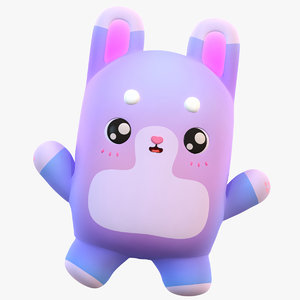 cute cartoon bunny 3D model