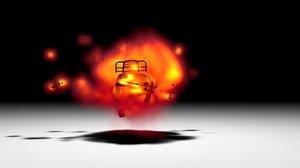 pubg car bomb turbulenceFD voronoi 3D model