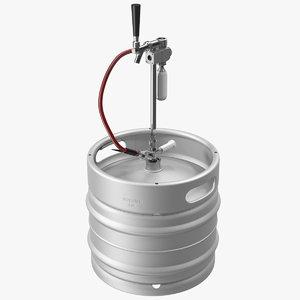 beer keg 30l portable 3D model