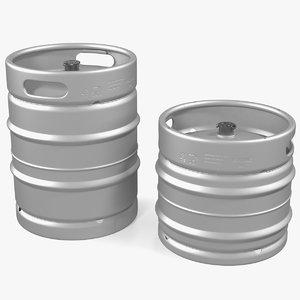 beer kegs set 3D model