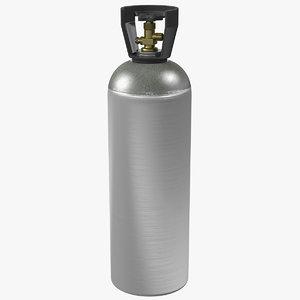 3D beverage gas supplies cylinder model