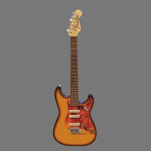 3D guitar fender stratocaster model
