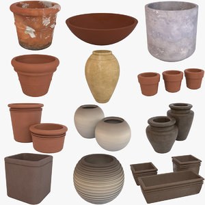 3D decorative pots