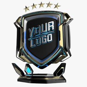 3D sport emblem logos
