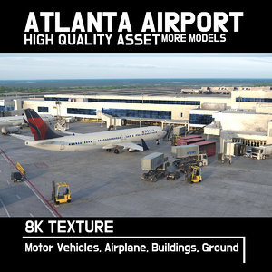 airport air atlanta 3D model