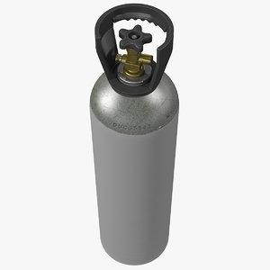 3D aluminum co2 cylinder