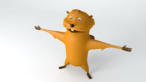3D beaver animations