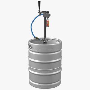 3D beer keg 50l leland