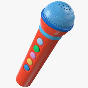 kids microphone toy mic 3D