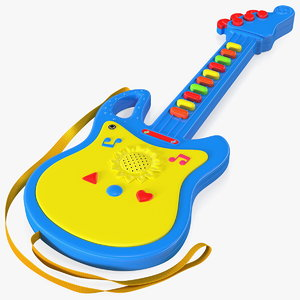 3D model kids toy electric guitar