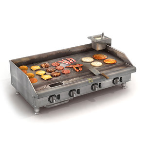 commercial kitchen griddle 3D