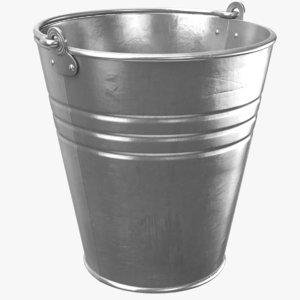 real metal bucket 3D