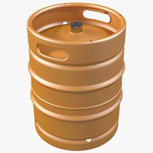 color beer keg 3D model