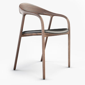 neva chair wood 3D