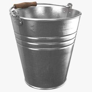 real metal bucket 3D model
