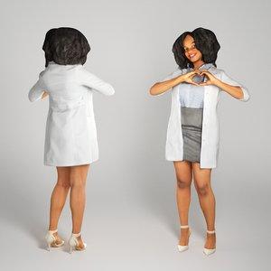 3D human young woman medical