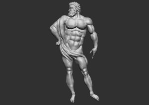 3D ancient greek man cnc model