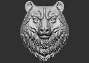 bear head cnc 3D model