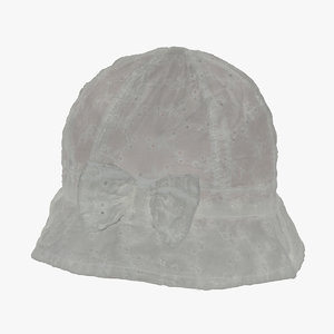 3D model baby hat 03 raw