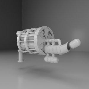 3D crooked grenade launcher