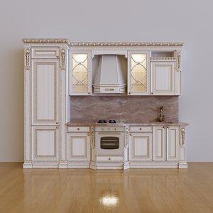 3D model kitchen maria rosa