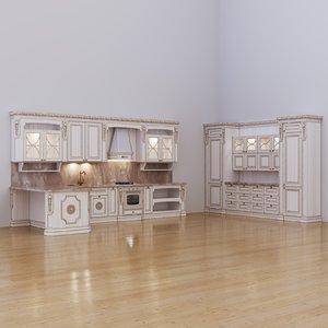 double row kitchen maria 3D model