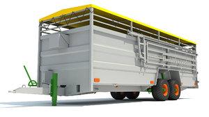 cattle trailer 3D model