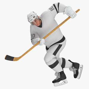3D hockey attacker character 01