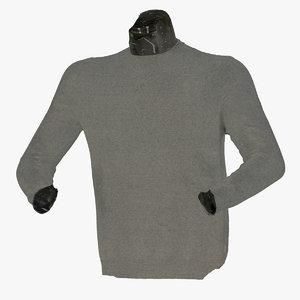 3D male shirt 01 raw