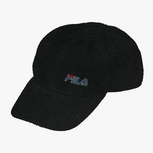 3D old file cap 01 model