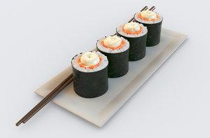 sushi maki salmon 3D model
