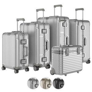 suitcase aluminium case 3D