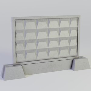 3D concrete fence model