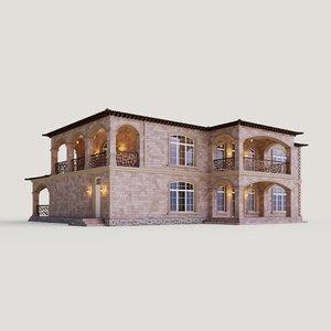 terrace balconies 3D model